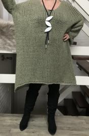 ITALIA zacht gebreide oversized  tuniek