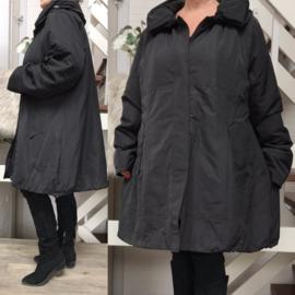 SINNE design.. A-lijn waterbestendig winter jas/ gevoerd zwart