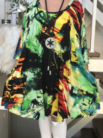 Lizi oversized A-lijn jersey tuniek/jurk met zakken apart (extra groot)