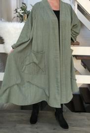 Lenny oversized A-lijn jersey blazer/jas  (extra groot)  apart