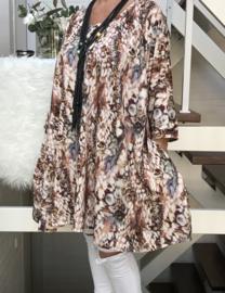 Lydia oversized A-lijn jersey tuniek/jurk met zakken apart (extra groot)