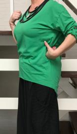 ITALIA viscose oversized tuniek jurk met open rug/in meerdere kleuren