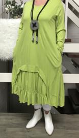 ITALIA  jersey katoen A-lijn jurk met zakken  / in meerdere kleuren