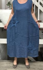 Moonshine linnen  A-lijn jurk ( extra groot)/in meerdere kleuren