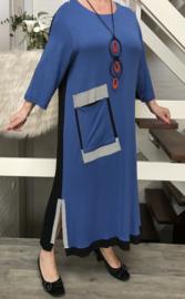 Zedd Plus viscose jurk Dominiek met ketting /in meerdere kleuren