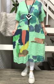 ITALIA  linnen A-lijn jurk
