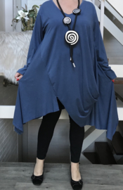 Moonshine jersey A-lijn tuniek  apart /in meerdere kleuren