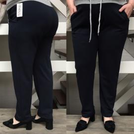 ITALIA jersey  katoen joggingbroek zwart