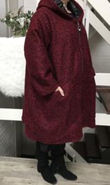 Moonshine oversized gevoerde A-lijn mantel/ jas met capuchon (extra groot) wol/viscose/in meerdere kleuren