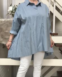 ITALIA katoen oversized  blouse/hemd stretch