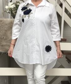 SINNE design.. A-lijn katoen tuniek/blouse stretch
