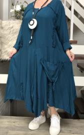 La Bass viscose A-lijn jurk/tuniek met zakken/in meerdere kleuren