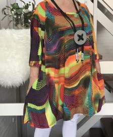 Ilona oversized A-lijn jersey tuniek met zakken apart (extra groot)