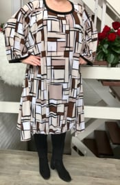 Babs oversized A-lijn jersey jurk apart (extra groot)