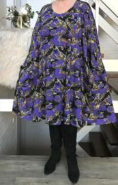 Wanda oversized A-lijn jersey jurk met zakken apart (extra groot)