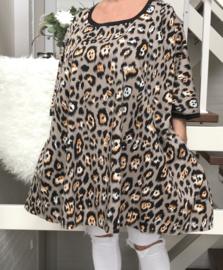 Franka oversized A-lijn viscose jersey tuniek/jurk met zakken apart (extra groot)