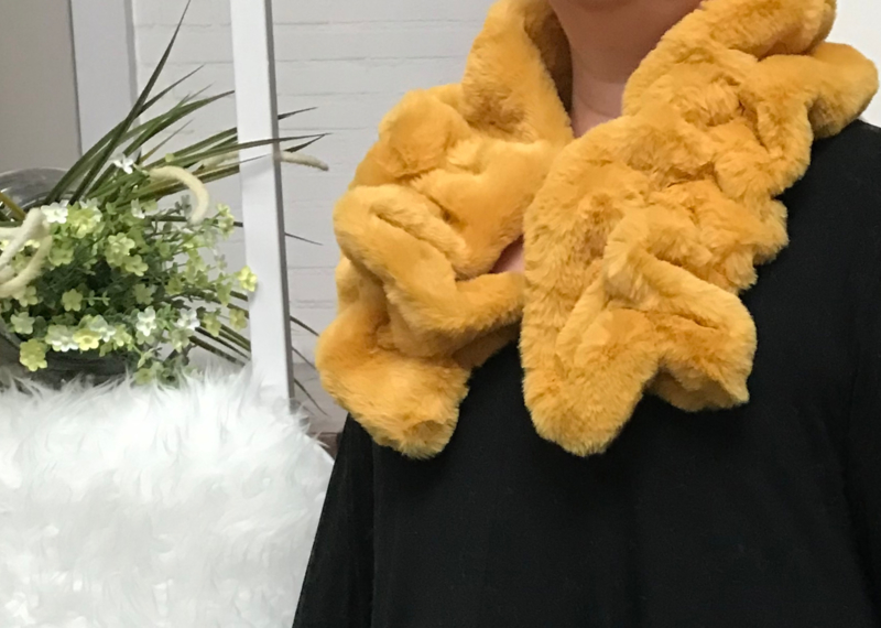 ITALIA zachte winter kraag - sjaal van imitatie bont