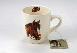 Senseo mokje met de afbeelding van een donker bruin paard