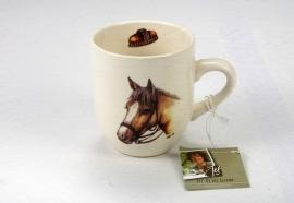 Senseo mokje met de afbeelding van een licht bruin paard