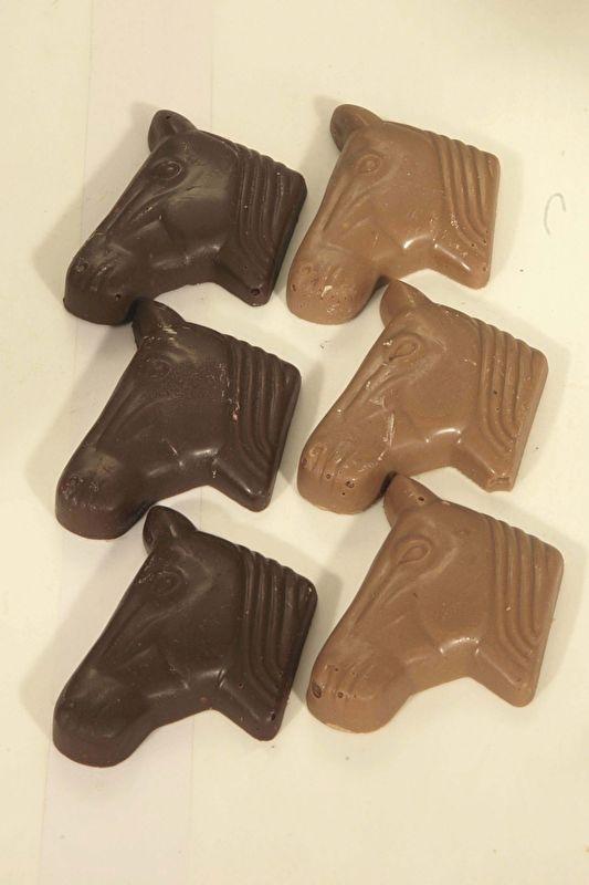 Paardenhoofdjes chocola (100 gram)