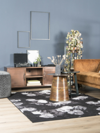Vloerkleed  Modern 'Mo' Zwart/Wit