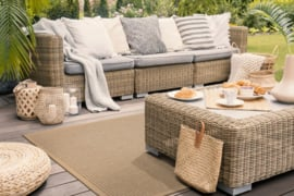 Vloerkleed Outdoor/Indoor 'Taffino Tweed ' Zand/Beige