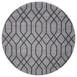 Vloerkleed Grafisch 'Pattern' Groen/Grijs Rond