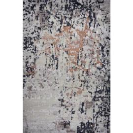 Vloerkleed VKW  Prestigieux 'Paisley' Earth Grijs/Bruin/Zwart