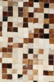 Koeienhuid Patchwork  Dora Mix Crème/Bruin 120x180cm