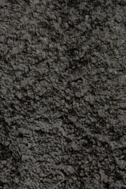 Vloerkleed Effen hoogpolig 'Gjall' Houtskool