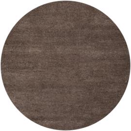 Vloerkleed VKW Écrasement Gemêleerd 'Orianne' Bruin Rond 220x220cm