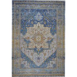 Vloerkleed VKW Glorieusement Vintage 'Imogen' Blauw/Goud 230x160cm