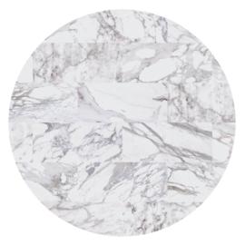 Vloerkleed Rond Sense of Marble 'Marmer'  Carrara
