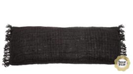Kussen Natuurlijk  'The Oh My Gee Navy' Zwart 35x100cm