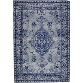 Vloerkleed VKW Glorieusement Vintage 'Lucy' Blauw 230x160cm