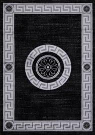 Vloerkleed Klassiek 'Eleysa' Grijs/Zwart