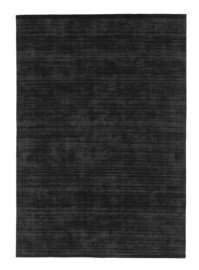 Vloerkleed Effen 'Loke' Zwart