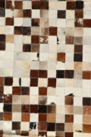 Koeienhuid Patchwork Elles Mix Crème/Bruin 120x180cm
