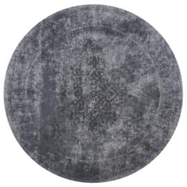 Vloerkleed  Vintage'Juud' Grijs/Zwart Rond