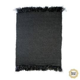 Vloerkleed Natuurlijk 'The Fringed Carpet' Zwart 180x240cm