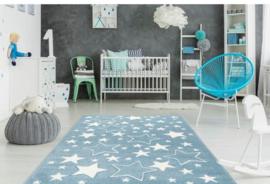 Vloerkleed VKW United Colors 'Kids Story' Stars Blauw