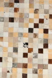 Koeienhuid Patchwork Annelin Crème/Soft Beige 120x180cm