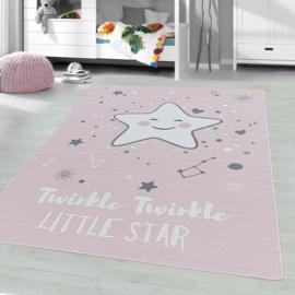 Vloerkleed VKW United Colors 'Kids Story Little Stars' Roze