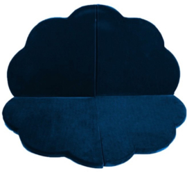 Misioo Speelmat  Bloem Navy Blauw 120x120cm