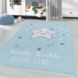 Vloerkleed VKW United Colors 'Kids Story Little Stars' Blauw