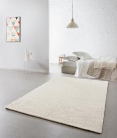 Vloerkleed Effen Hoogpolig 'London' Wit 160x230cm