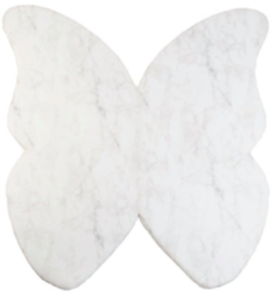 Misioo Speelmat Vlinder Wit Marmer 125x125cm