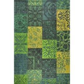 Vloerkleed VKW Prestigieux Patchwork 'Metanoia' Groen