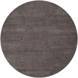Vloerkleed VKW Écrasement Gemêleerd 'Orianne' Donkerbruin Rond 220x220cm