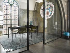 Vloerkleed Design 'Mozaic & Fresco' Groen/Zwart